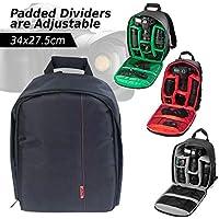 OZSTOCK® Waterproof DSLR SLR Camera Soft Case Bag Backpack Rucksack for Canon Nikon Sony (Green)