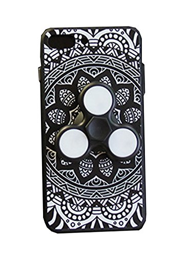 Dmeru  iPhone7ケース 一本形 指スピナー ハンドスピナー スピン 急速回転 ストレス解消 暇つぶし おもちゃ LED 光る 華やか 豪華 ピカピカ 高回転 耐久フォーカス玩具 iphone7 7s アイフォン7 /7C カバー スマホケース スマホカバー 超薄 軽量 プラスチック製 カバー アイフォーン