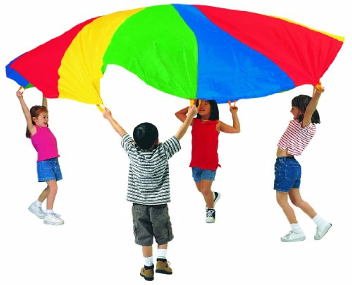 Pacific Play Tents Kids 35足Giantパラシュートwith Carryバッグ、ハンドルなし