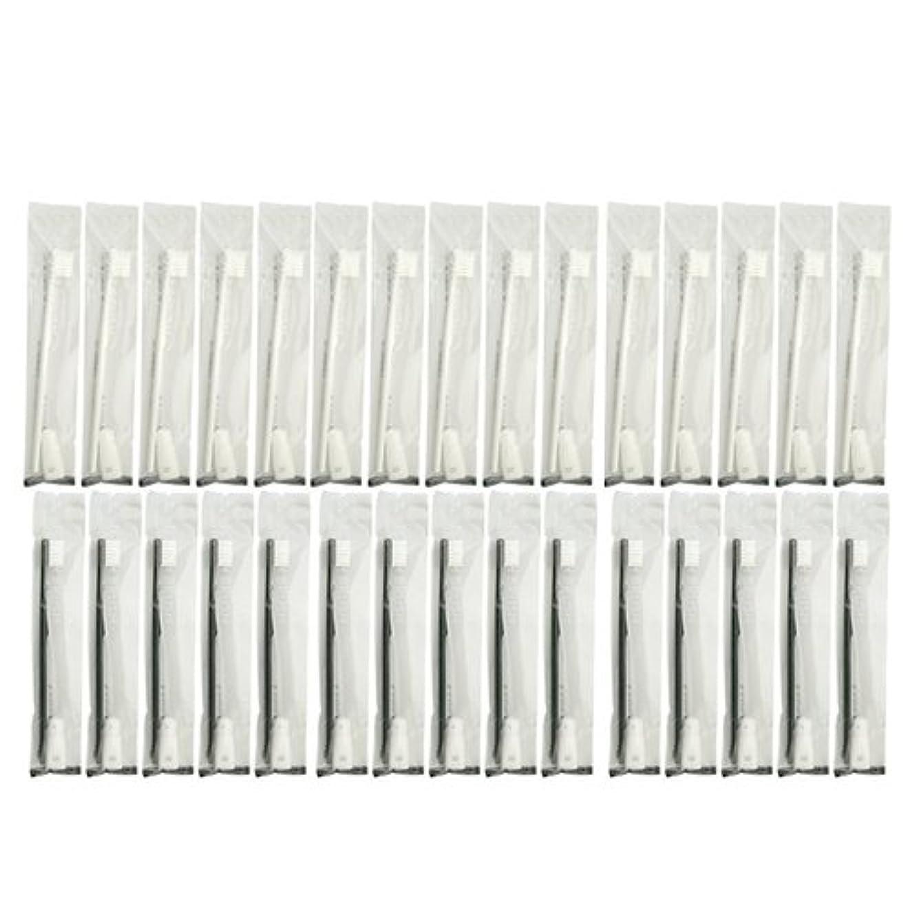 飢急降下部門業務用 使い捨て歯ブラシ チューブ歯磨き粉(3g)付き アソート 40本 (ブラック20本/ホワイト20本)セット│ホテルアメニティ 個包装タイプ