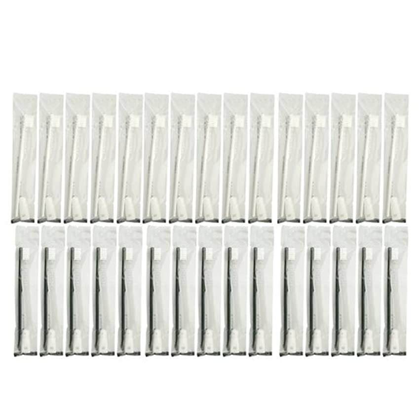 胃絶壁雲業務用 使い捨て歯ブラシ チューブ歯磨き粉(3g)付き アソート 30本 (ブラック15本/ホワイト15本)セット│ホテルアメニティ 個包装タイプ