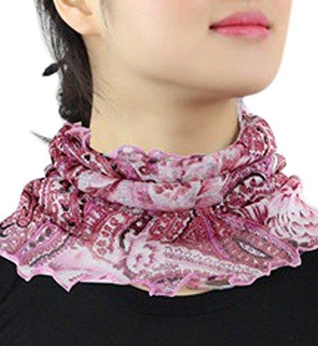 (Rarihima)絲管蓋預防感冒的抗紫外線防曬防紫外線絲照顧純色絲綢偷頸部溫暖防紫外線
