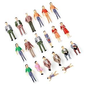 VERY100 模型・人形モデル・人形ランダム  20体セット 1/30 用  カラフル DIY・建築模型・情景コレクション・ジオラマ・教育・写真に