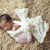 DierCosy 新生児 赤ちゃん写真小道具 ブランケット レーヨン ストレッチ ニットラップ 40150cm 赤ちゃん用