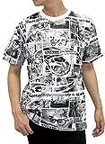 B ONE SOUL(ビーワンソウル) Tシャツ 半袖 DUCK DUDE 総柄 メンズ ホワイト L