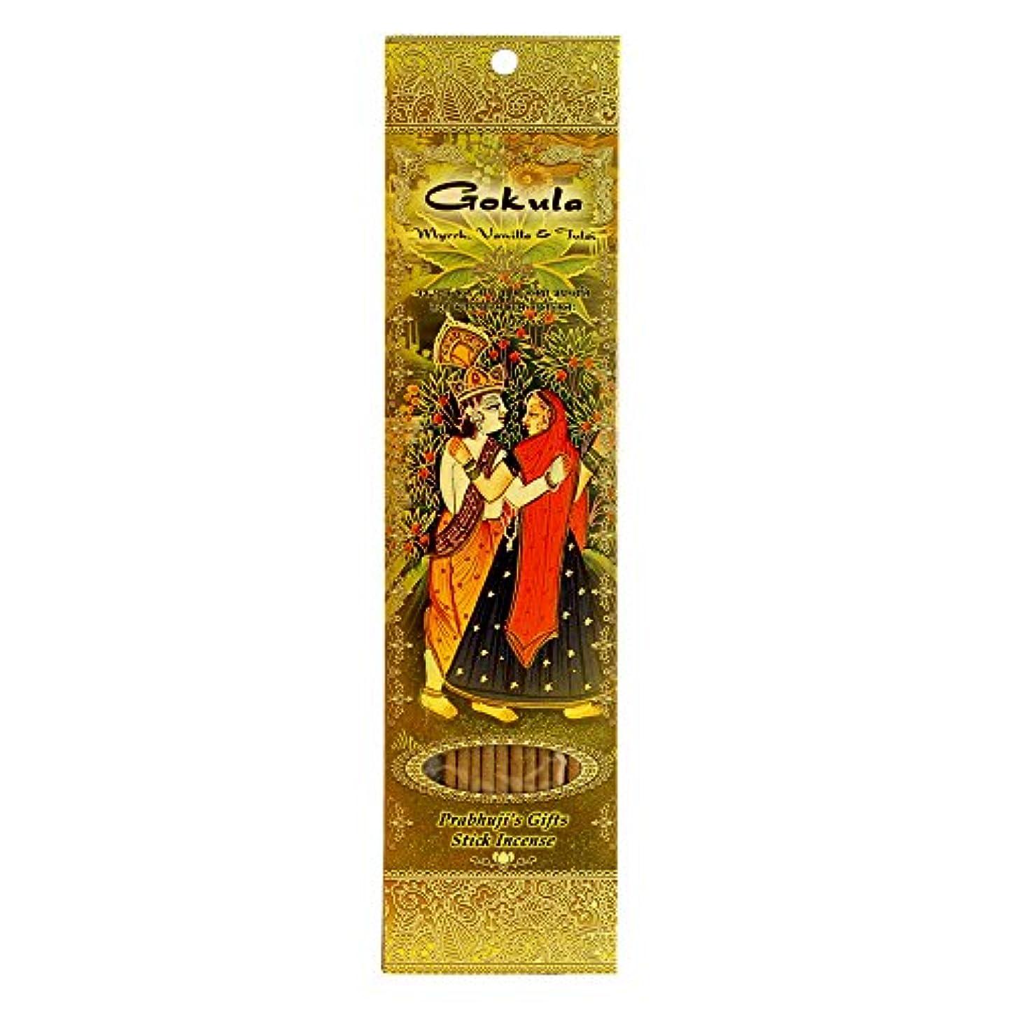 約規制するランドリーIncense Sticks Gokula – Myrrh、バニラ、Tulsi