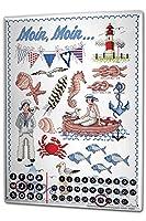カレンダー Perpetual Calendar Globetrotter Lindner fisherman Tin Metal Magnetic