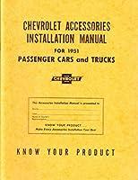 1951Chevrolet車トラックアクセサリーインストールサービスマニュアル指示Book