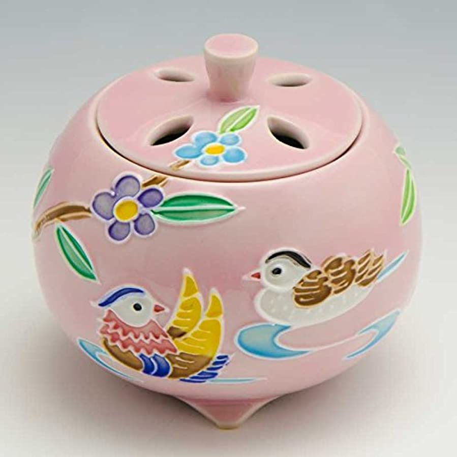 京焼 清水焼 京 焼き 京焼き 香炉 1個 木箱入 交趾おしどり(ピンク) こうちおしどり(ぴんく) YSP133