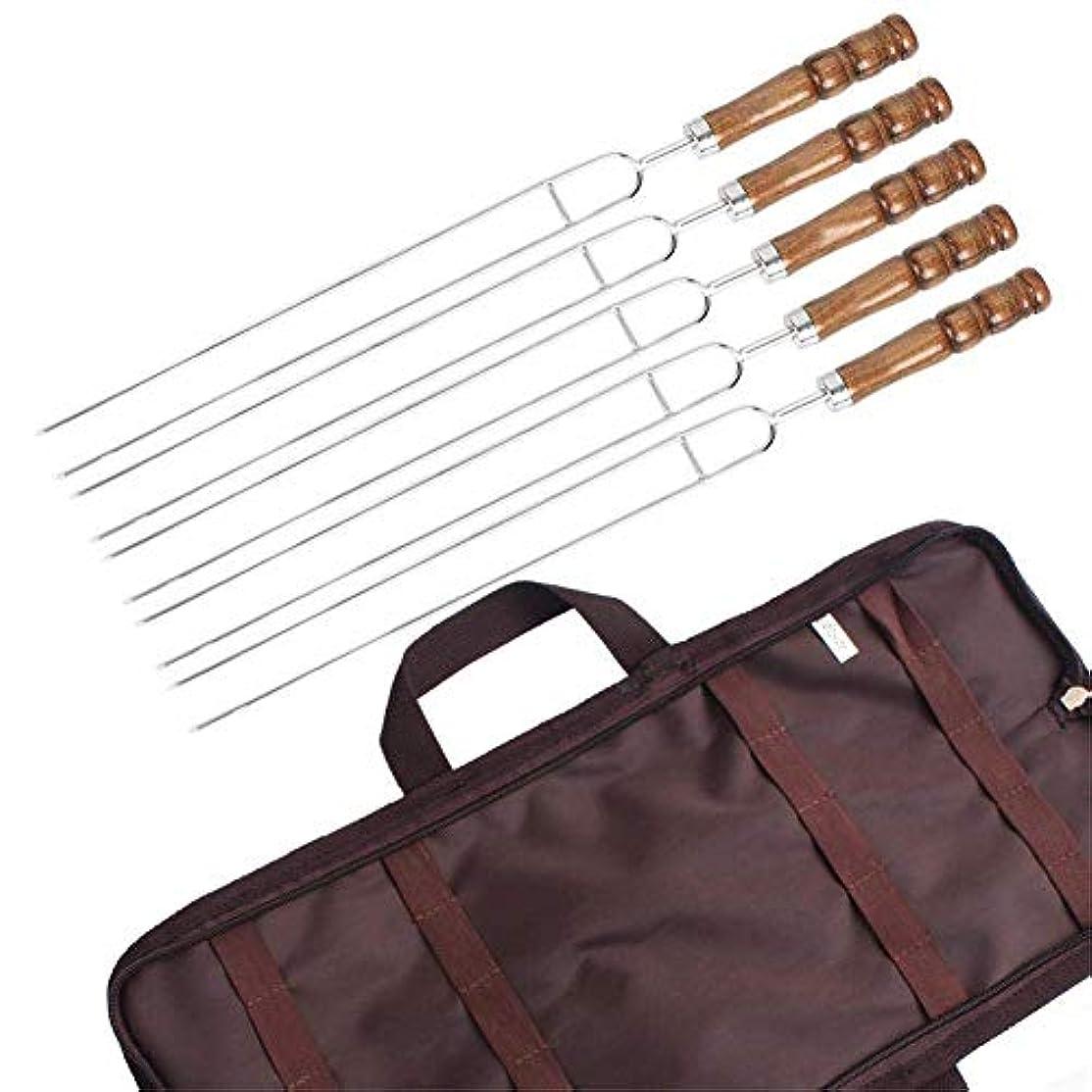 バーベキューフォーク BBQフォーク バーベキュー バーベキュー道具 ステンレス製 5本組