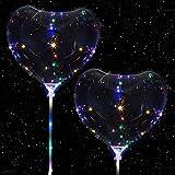 LEDハート型風船 心 バルーン LED デート ディナー 求婚 結婚式 記念日 2个セット