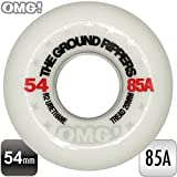 """OMG! """"THE GROUND RIPPERS"""" スケートボード スケボー 54mm 85A ソフトウィール ホワイト クルージング《4個1セット》"""