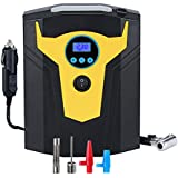 Portable Digital Tyre Inflator, EADE Air Compressor Pump, 12V 150 PSI, Support Preset Pressure, Automatic Shutoff, with LED Light, for Cars, Motorcycles, Bicycles, Sports Balls and Other Inflatables