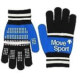 [デサント] ニット手袋 MOVESPORTS DMAMJD90 メンズ BKBL 日本 F (FREE サイズ)
