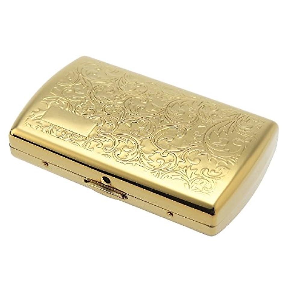 手発見解放カートリッジケース20 iQOS(アイコス)用カートリッジケース (ゴールドアラベスク)