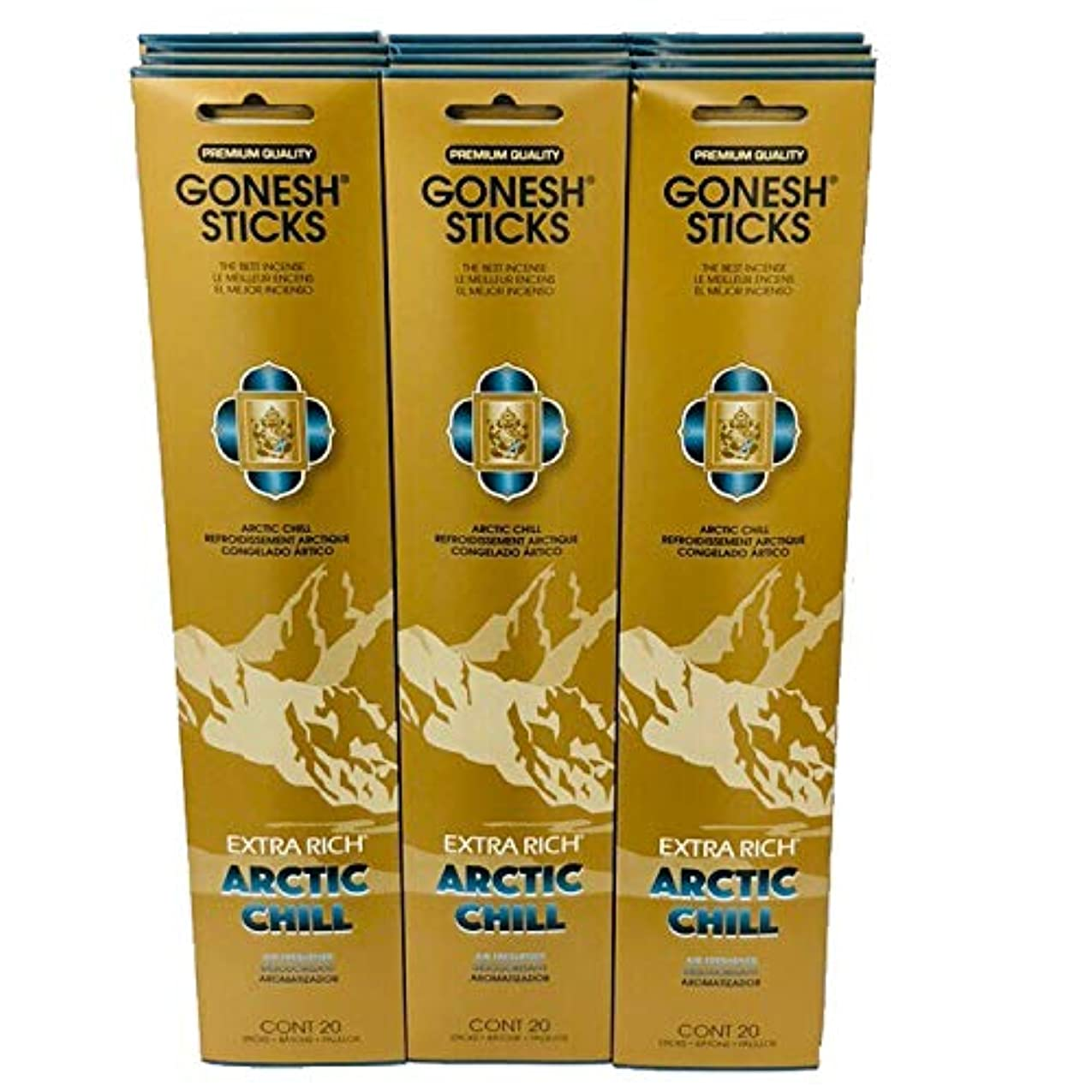派手モール学習Gonesh – 12 ARCTIC CHILL PACK ( 240 Sticks ) Incense Sticks Extra Richコレクション