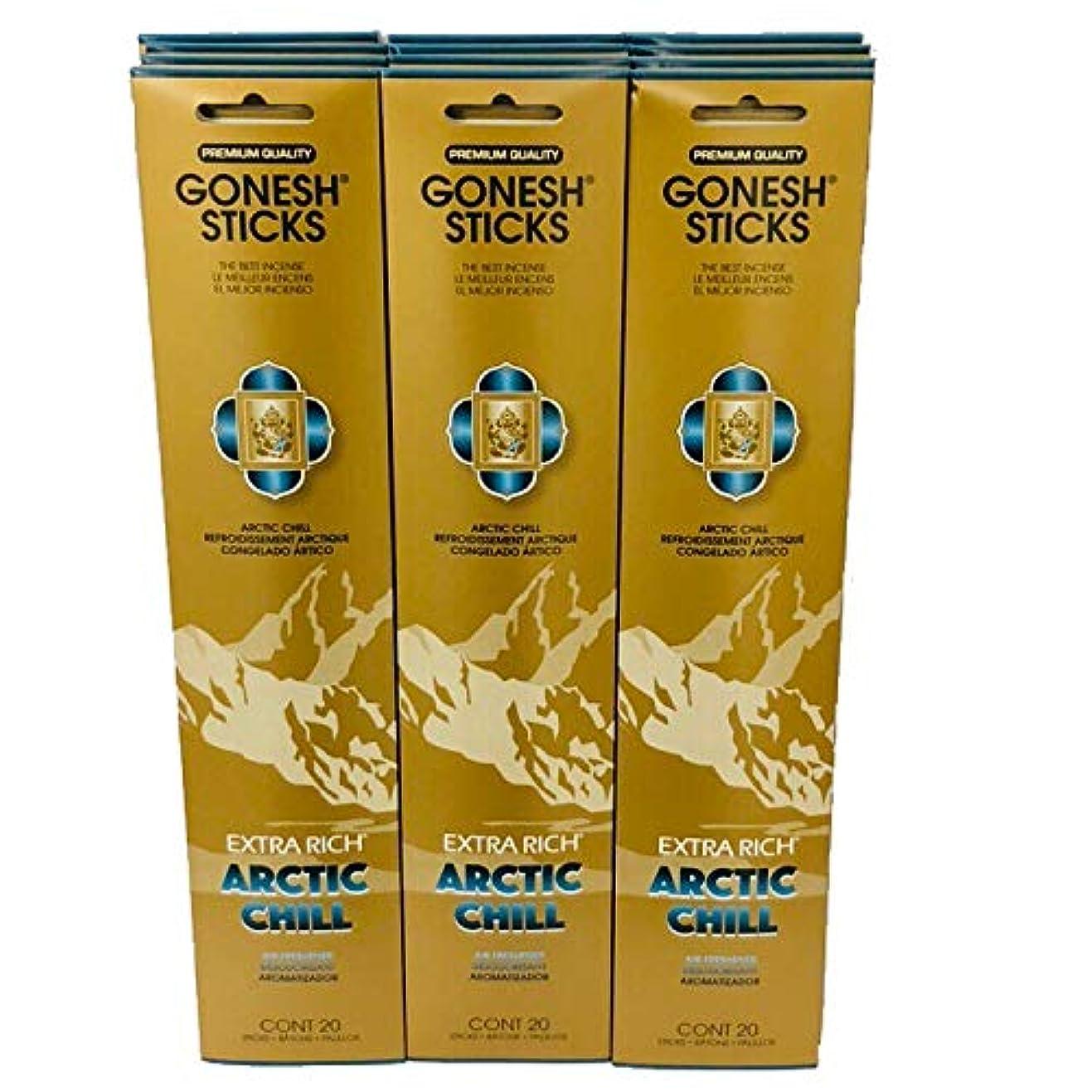 無効畝間桁Gonesh – 12 ARCTIC CHILL PACK ( 240 Sticks ) Incense Sticks Extra Richコレクション