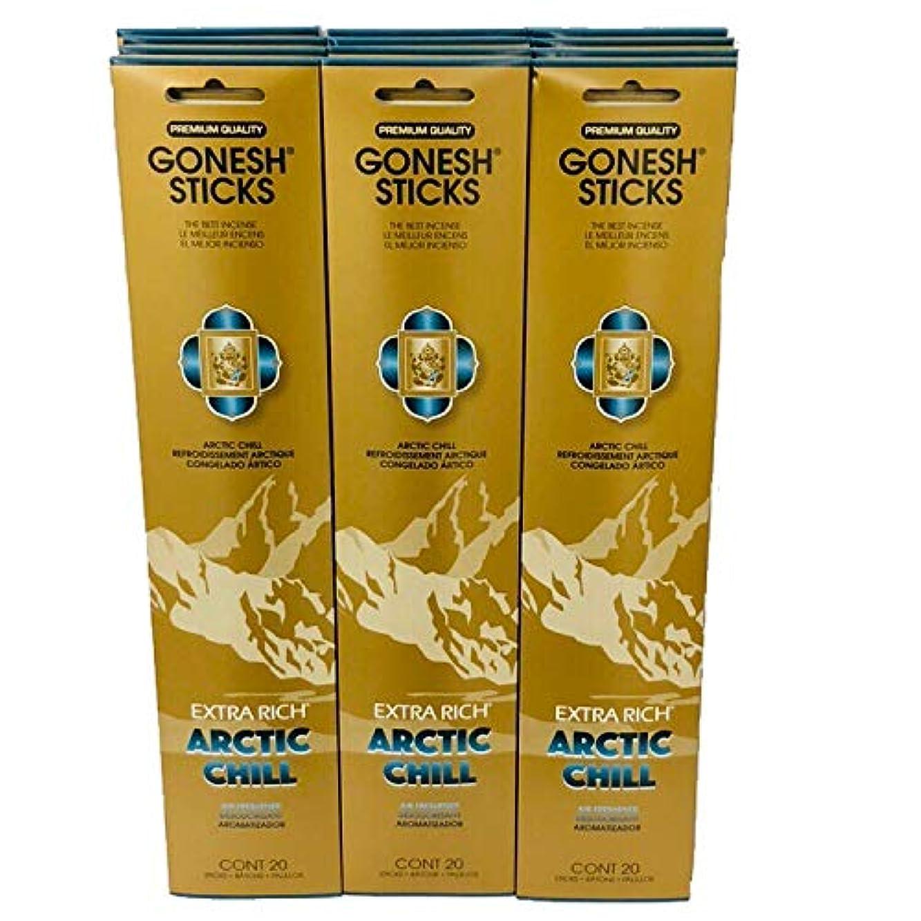 サンダーミケランジェロシルエットGonesh – 12 ARCTIC CHILL PACK ( 240 Sticks ) Incense Sticks Extra Richコレクション