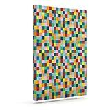 """KessインハウスプロジェクトM「カラーブロック」Geometric Rainbowアウトドアキャンバス壁アート 8"""" x 10"""" PM1023AAC01"""