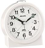 セイコー クロック 目覚まし時計 電波 アナログ 白 パール KR325W SEIKO