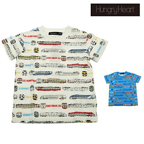 【子供服】 Hungry Heart (ハングリーハート) 日本製近鉄電車総柄Tシャツ 90cm〜130cm S36892