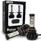 Safego 80W 車用 9006 LED ヘッドライト 8000LMルーメン HB4 高輝度 Cree CHIP搭載 LEDバルブ ホワイト DC 12V 新発売 2年保証