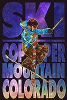 銅Mountain、コロラド–Milky Way Skier 24 x 36 Giclee Print LANT-47865-24x36