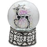 20047【Minium Collection】銀の鹿 Snowglobe ミュージカルスノーグローブ  【直径】10 cm