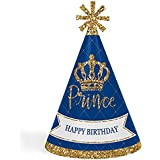 Royal Prince Charming – 円錐Happy Birthday Party Hats for Kidsと大人のセット – 8 (標準サイズ)