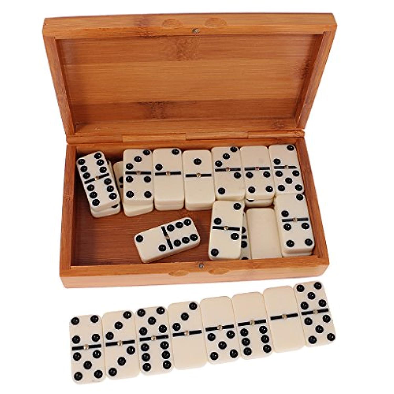 Dovewill  ドミノセット 倒し 積み木 仕掛け ボードゲーム おもちゃ 竹ボックス