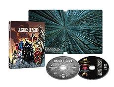 【Amazon.co.jp限定】ジャスティス・リーグ スチールブック仕様  4K ULTLA HD & ブルーレイセット(数量限定生産/2枚組)【LPサイズコレクターズディスクケース】 [Blu-ray]
