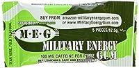 Military Energy Gum (MEG) - Spearmint - Tray (24 packs - 5pcs/pk) 100mg caffeine/pc - Military Specification Formula by Marketright, Inc.