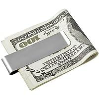 HOUSWEETY ステンレス クレジットカード対応 スマートペーパー マネー クリップ 財布 トラベルグッズ 旅行や出張などに! シルバー