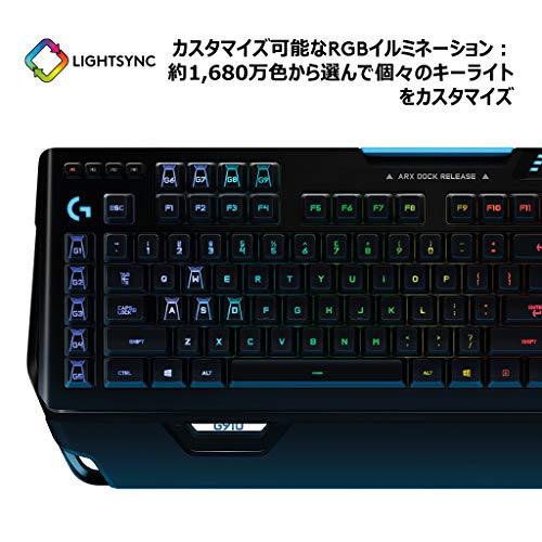 『Logicool G ゲーミングキーボード G910r ブラック メカニカルキーボード タクタイル 日本語配列 RGB パームレスト G910 Spectrum 国内正規品 2年間メーカー保証』の5枚目の画像