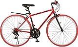 Nex Tyle(ネクスタイル) クロスバイク 700C シマノ製21段変速 NX-7021 適用身長155cm以上 (レッド)