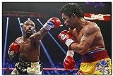 明日晴れManny Pacquiao vs Floyd Mayweatherボクサーボクシングアートシルクポスター24 x 36インチ