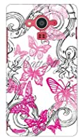 SECOND SKIN 池田ハル 「Butterfly」 ピンク / for AQUOS EVER SH-04G/docomo  DSH04G-ABWH-193-K562