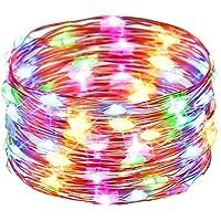 SEISHI イルミネーションライト ストリングスライト 10m 100個LED電球 室内 屋外 USB  クリスマス 結婚式 新年 パーティー 飾り ライト (マルチカラー)