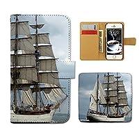 (ティアラ) Tiara Xperia A4 SO-04G スマホケース 手帳型 Ship 手帳ケース カバー 観光船 ヨット 船舶 ボート 海 F0283010081605