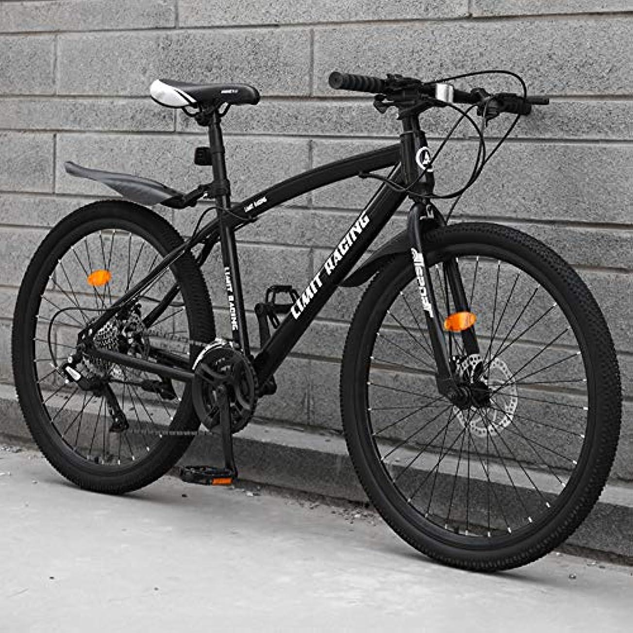 貢献するレイアウトキノコマウンテンバイク 軽量 すべての地形 MTB 高-炭素鋼 21スピード 可変速度 減衰 ディスクブレーキ 24/26インチ ロードバイク