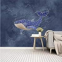 Lcymt カスタム3D写真の壁紙の装飾現代ファッション水彩サメ星座大壁画用子供部屋寝室アート-150X121Cm