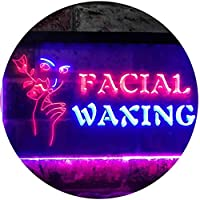 Facial Waxing Beauty Salon Dual Color LED看板 ネオンプレート サイン 標識 赤色 + 青色 300 x 210mm st6s32-i0046-rb