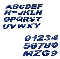 カースタイリングA-Z / 0-9 3Dメタルカラフルな文字EmblemDIY車のステッカーバッジオートロゴアクセサリーオートバイステッカー:M