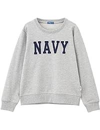 Navy(ネイビー) ボーイズ NAVYフェルトロゴトレーナー EJ175-KB018 キッズ