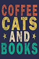 Coffee Cats And Books: Funny Vintage Librarian Reading Journal Gift