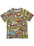 (ヒステリックミニ) Hysteric Mini WOODLAND COMIC CAMOUFLAGE総柄 半袖Tシャツ 100cm WOODLANDCAMO