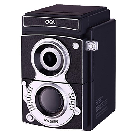 [해외]수동식 연필 깎기 복고풍 카메라 디자인 인테리어 클래식 잡화/Manual pencil sharpener Retro camera design interior Classic miscellaneous goods