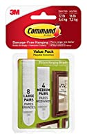 Command Picture Hanging Strips Variety Value Pack 4-Medium and 8-Large Strips 4-Pack 【Creative Arts】 [並行輸入品]