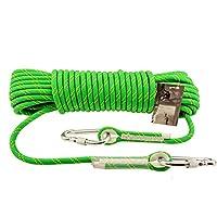 クライミングロープ ザ セーフティロック付きヘビーロープ、直径10mm安全で丈夫、レスキュー探査および技術保護 - グリーン (サイズ さいず : 50m)
