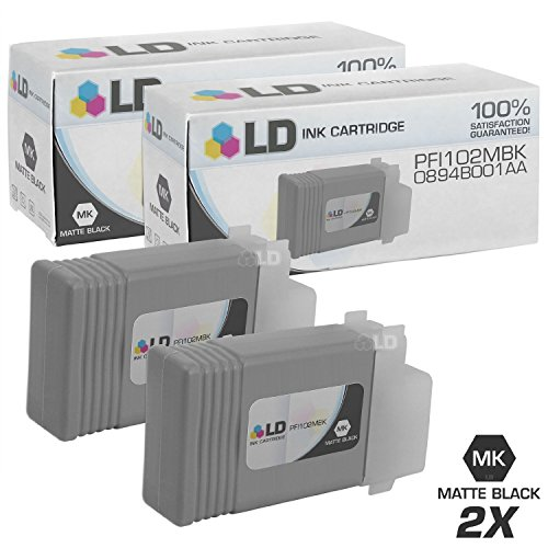 LD ? Compatible Replacements for Canon PFI-102MBK 2PK Matte Black Ink Cartridges for iPF500,iPF510,iPF600,iPF605,iPF610,iPF650,iPF655,iPF700,iPF710,iPF720,iPF750,iPF755,iPF760,& iPF766 [並行輸入品]